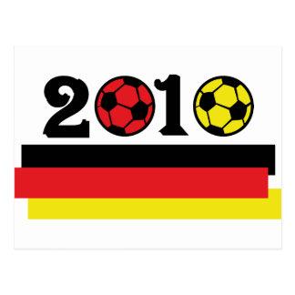 germany 2010 soccer postcard