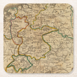 Germany 29 square paper coaster