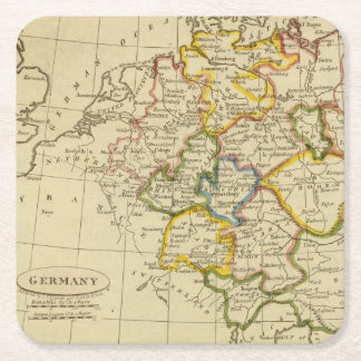 Germany 3 square paper coaster