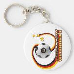 Germany alternate blended soccer logo basic round button key ring