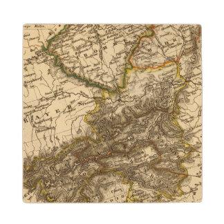 Germany and Austria 3 Maple Wood Coaster