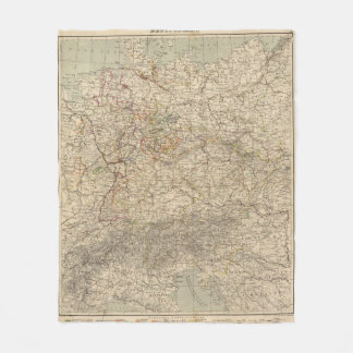 Germany Atlas Map Fleece Blanket
