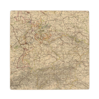 Germany Atlas Map Wood Coaster