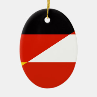 Germany-Austria Flag Christmas Ornament