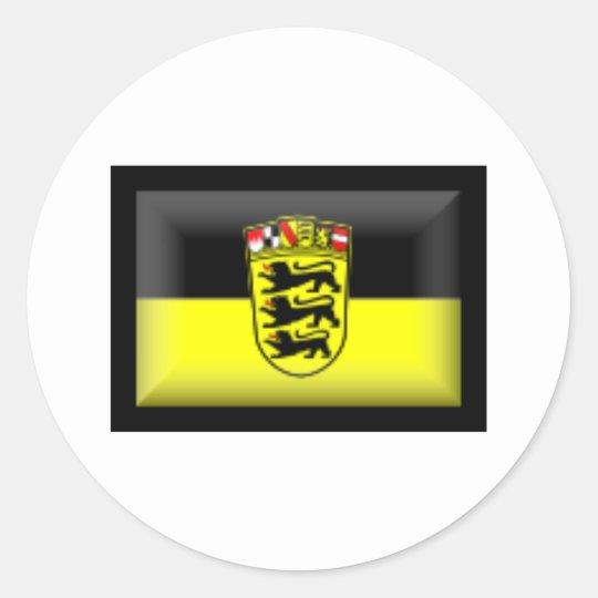 Germany Baden-Württemberg Flag Classic Round Sticker