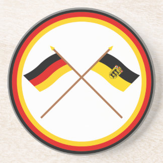 Germany & Baden-Württemburg Crossed Flags Coaster