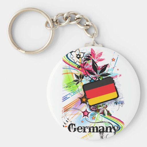 Germany Basic Round Button Key Ring