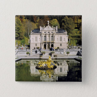 Germany, Bavaria, Linderhof Castle. Linderhof 15 Cm Square Badge