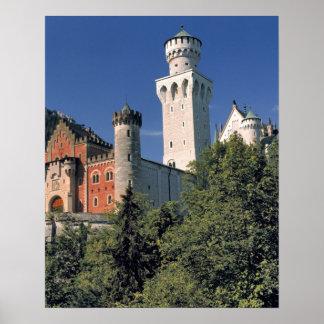 Germany, Bavaria, Neuschwanstein Castle. Poster