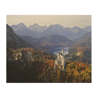 Germany, Bavaria, Neuschwanstein Castle. Wood Canvas