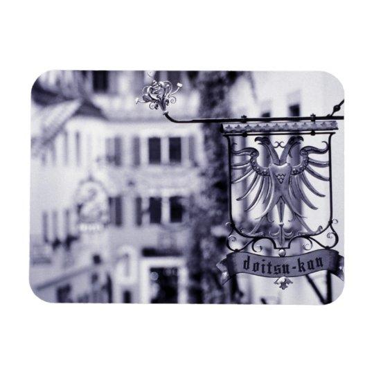 Germany, Bavaria, Rottenburg. Hotel sign Rectangular Photo Magnet