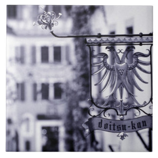 Germany, Bavaria, Rottenburg. Hotel sign Tile