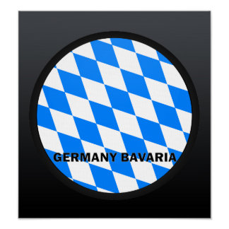Germany Bavaria Roundel quality Flag Posters