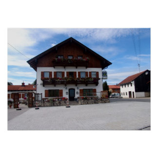 Germany, Bavaria;  Village houses Poster