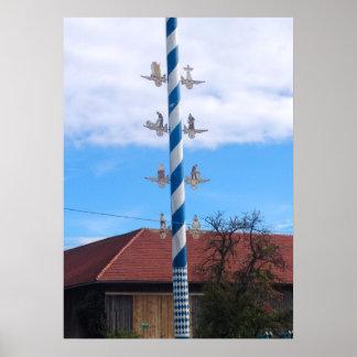 Germany Bavaria village Maypole Poster