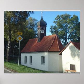 Germany, Bavaria;  Wayside chapel Poster