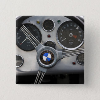 Germany, Bayern-Bavaria, Munich. BMW Welt Car 15 Cm Square Badge