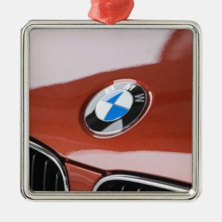 Germany, Bayern-Bavaria, Munich. BMW Welt Car 2 Silver-Colored Square Decoration