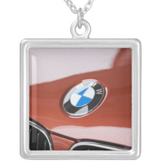 Germany, Bayern-Bavaria, Munich. BMW Welt Car 2 Square Pendant Necklace