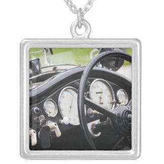 Germany, Bayern-Bavaria, Munich. BMW Welt Car 3 Silver Plated Necklace