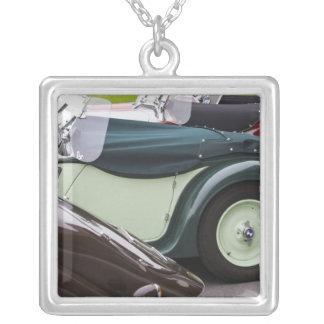 Germany, Bayern-Bavaria, Munich. BMW Welt Car 4 Silver Plated Necklace