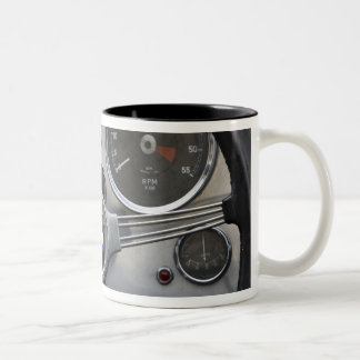Germany, Bayern-Bavaria, Munich. BMW Welt Car Two-Tone Coffee Mug