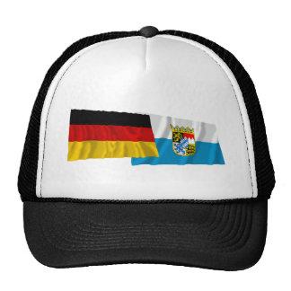 Germany & Bayern Waving Flags (Bavaria) Mesh Hat