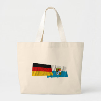 Germany & Bayern Waving Flags (Bavaria) Large Tote Bag