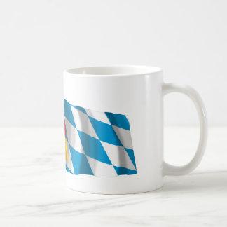 Germany & Bayern Waving Flags (Bavaria) Coffee Mugs