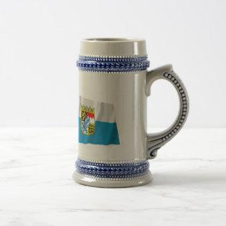 Germany & Bayern Waving Flags (Bavaria) Coffee Mug