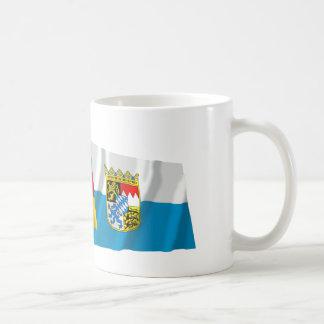 Germany & Bayern Waving Flags (Bavaria) Mugs