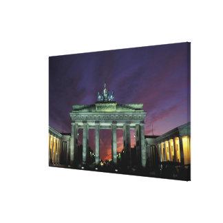Germany, Berlin. Brandenburg Gate at night. Canvas Prints