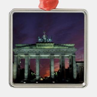 Germany, Berlin. Brandenburg Gate at night. Christmas Ornament