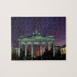 Germany, Berlin. Brandenburg Gate at night. Jigsaw Puzzle