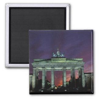 Germany, Berlin. Brandenburg Gate at night. Magnet