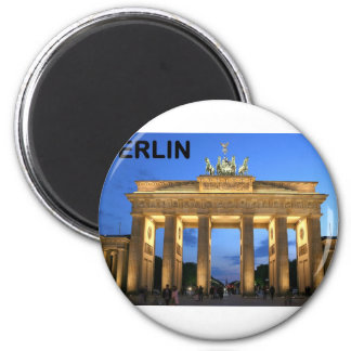 Germany Berlin Brandenburger Tor abends 6 Cm Round Magnet