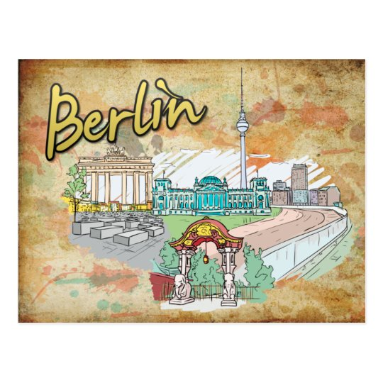 Germany Berlin Travel Postcard