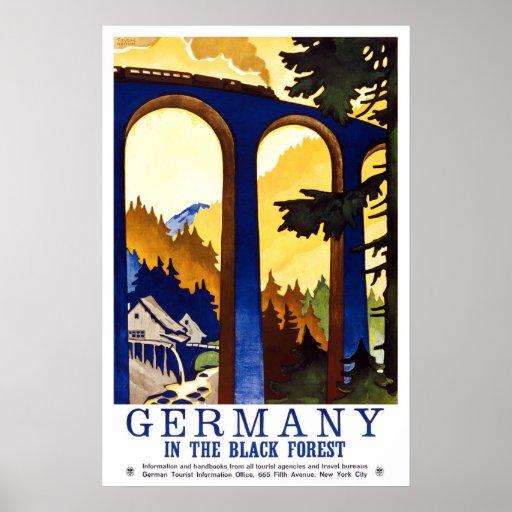 Germany Black Forest Vintage Travel Print