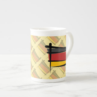 Germany Brush Flag Bone China Mug