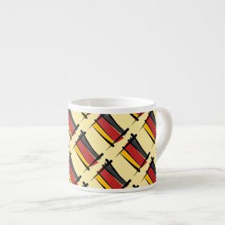 Germany Brush Flag Espresso Cups