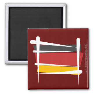 Germany Brush Flag Square Magnet