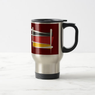 Germany Brush Flag Stainless Steel Travel Mug