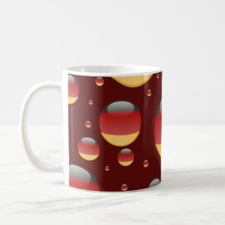 Germany Bubble Flag Basic White Mug