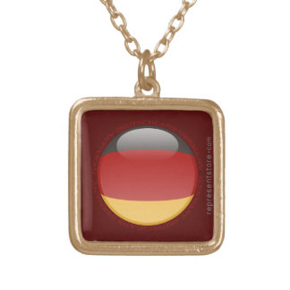Germany Bubble Flag Personalized Necklace