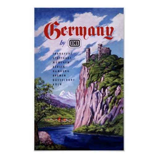 Germany by Train Poster