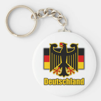 Germany Coat of Arms Basic Round Button Key Ring