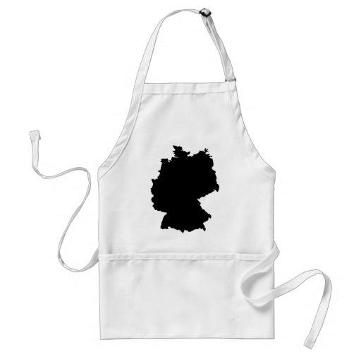 germany contour icon apron