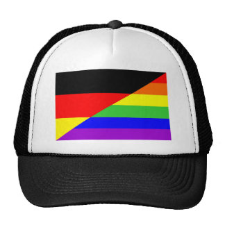 germany country gay proud rainbow flag homosexual trucker hat