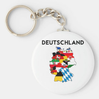 germany country political flag map region province basic round button key ring