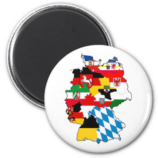 germany country political flag map region province magnet